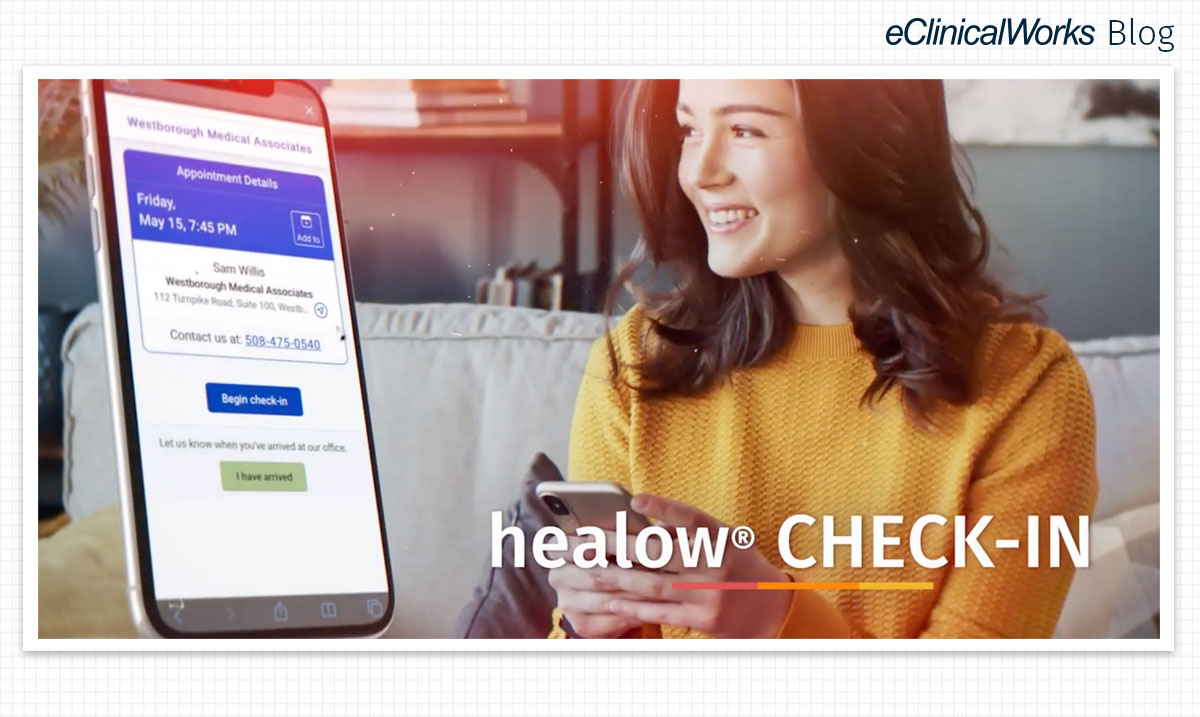healow contactless check-in